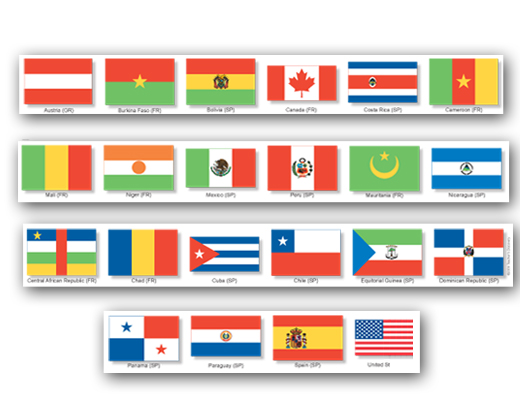 Flags of the World Bulletin Border