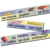 Classroom Objects French Bulletin Board Borders