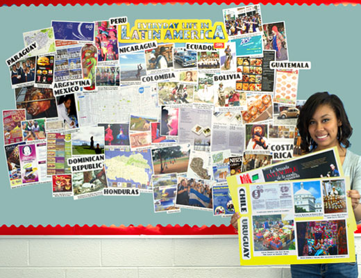Spanish Realia Bulletin Board Set