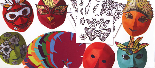 Mardi Gras/Carnaval Mask Kit - French/Spanish