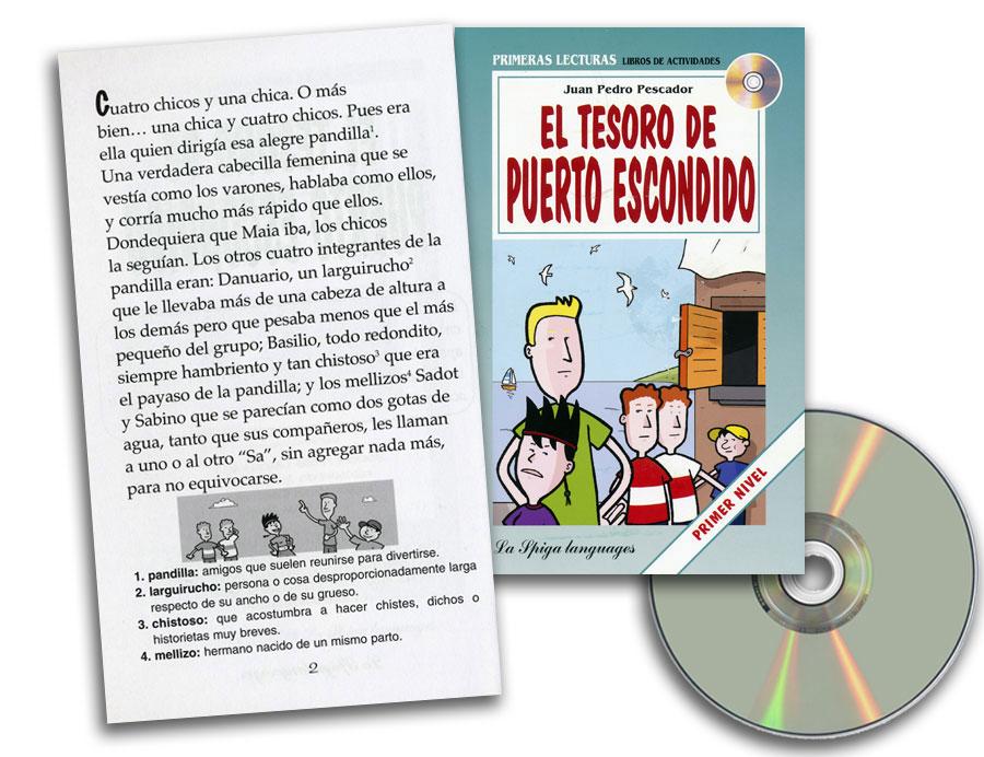 El Tesoro de Puerto Escondido Spanish Reader + Audio CD Primer Nivel