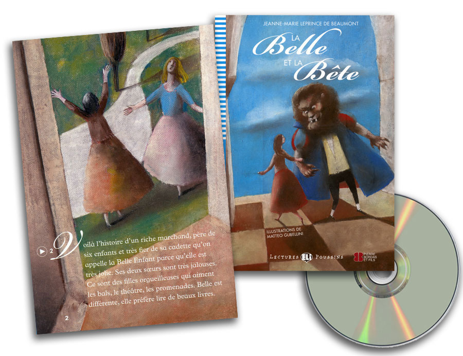 La Belle et la Bête French Reader + Audio CD Lectures Poussins Niveau 3
