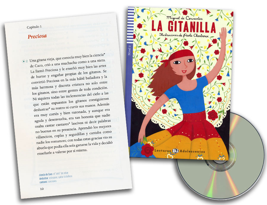 La gitanilla Spanish Reader + Audio CD Lecturas Adolescentes Nivel 2