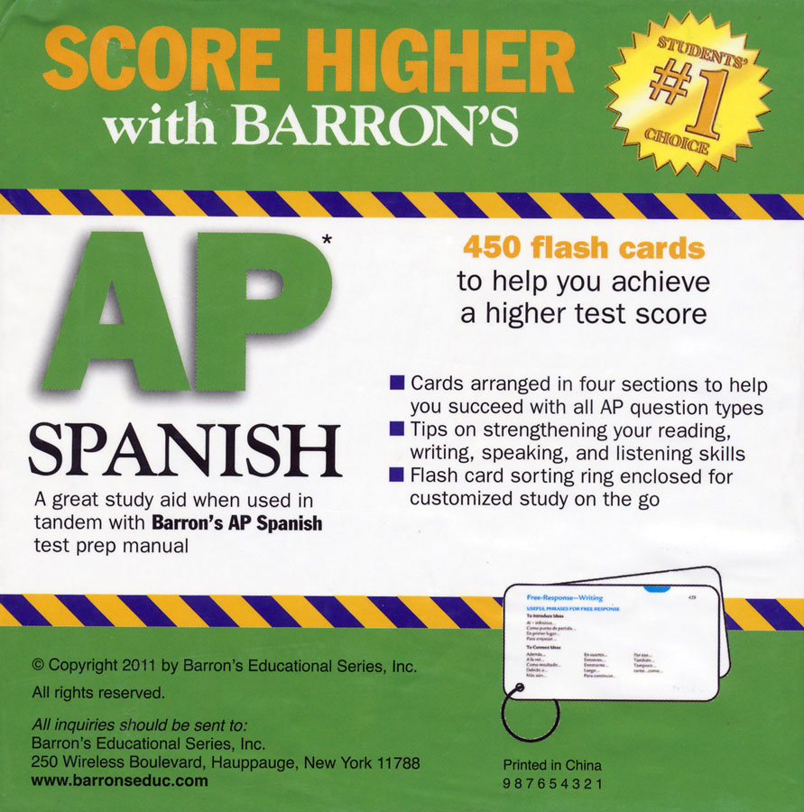 Barron's AP Spanish Flash Cards