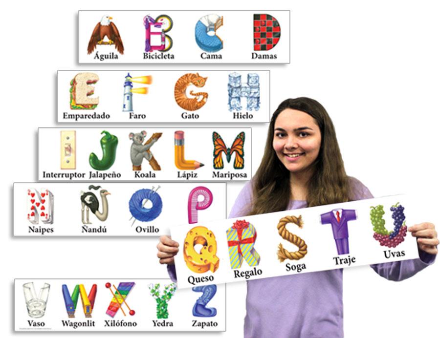Spanish Kern Alphabet Strips
