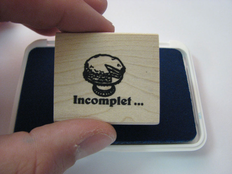 Incomplete French Stamper
