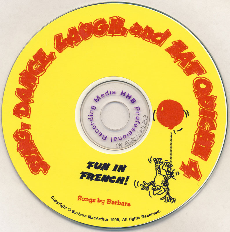 Sing, Dance, Laugh and Eat Quiche French 4 CD
