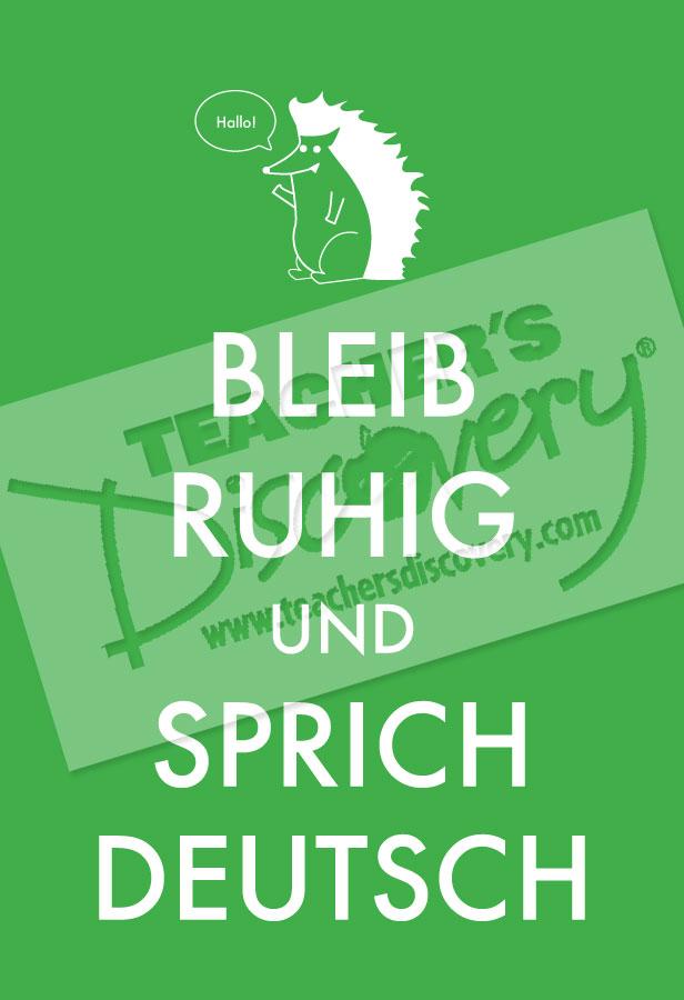 Keep Calm and Speak German Poster