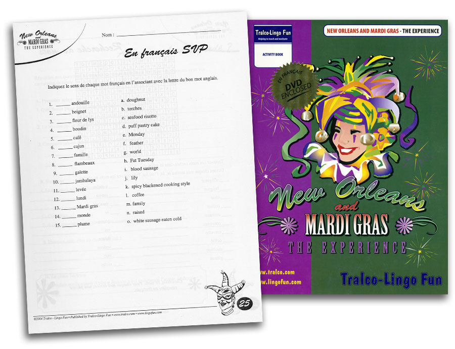 New Orleans & Mardi Gras The Experience French DVD & Reproducible Activity Book