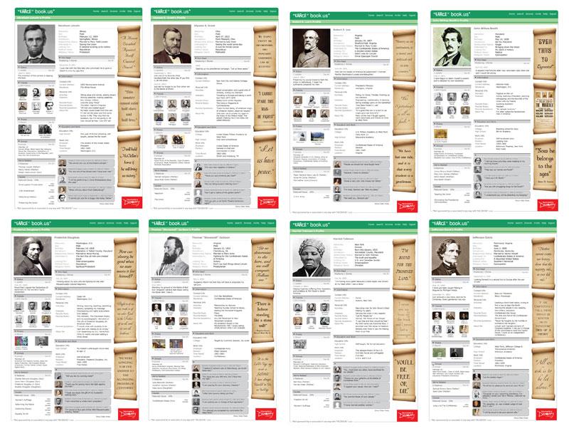 """Civil War """"Farce"""" book Posters ~ Set of 8"""