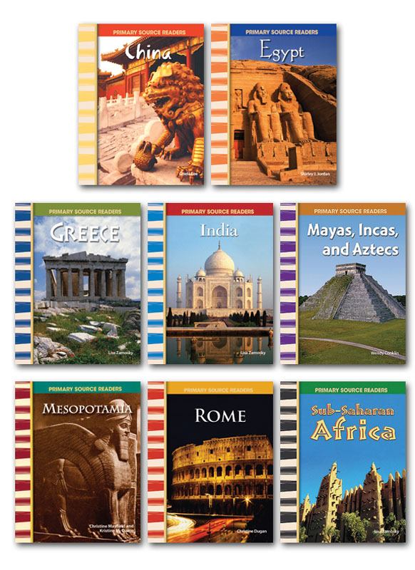 Ancient Civilizations Primary Source Readers ~ Set of 8