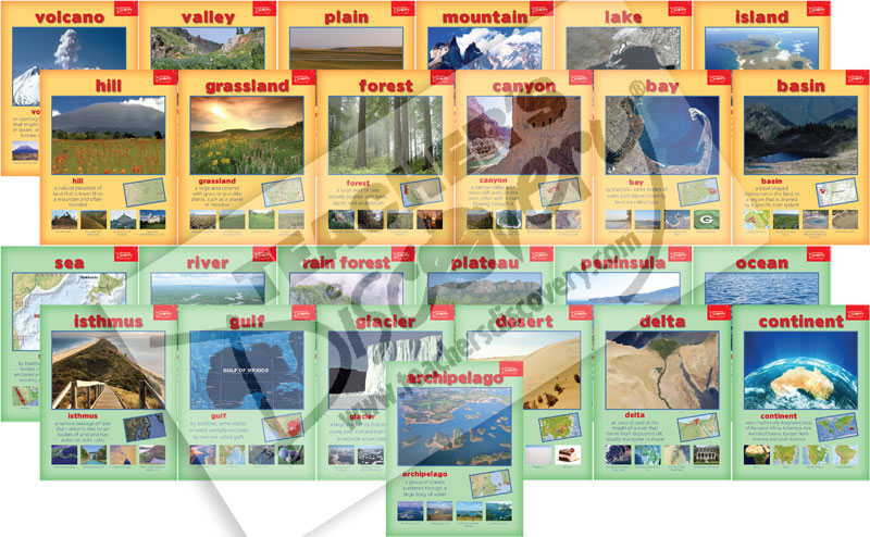 Geography Terms Posters, Projectables CD & Quack! DVD Set