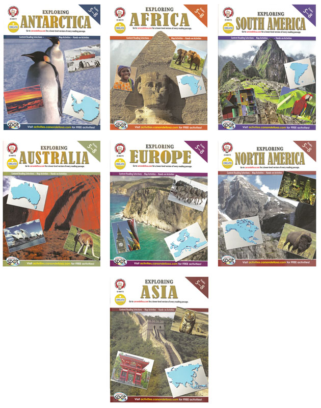 Exploring The Continents Activity Book Set