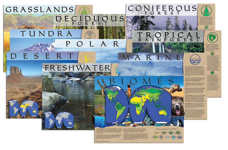 Biomes Set of 10 Posters