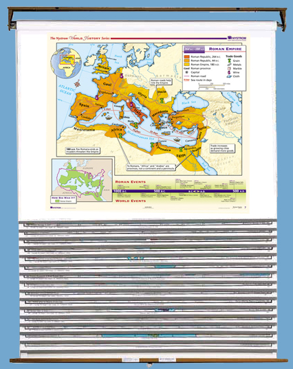 Early World History 16-Map Set on Multi-Roller