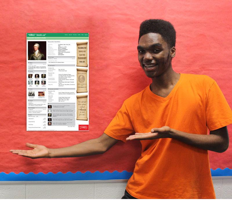 """Alexander Hamilton """"Farce"""" book Poster"""