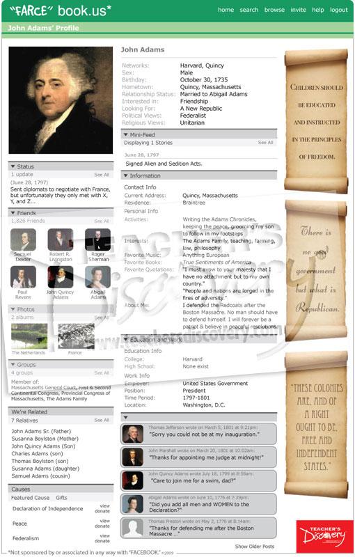 """John Adams """"Farce"""" book Poster"""