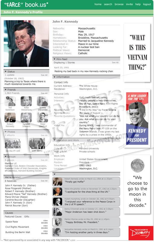 "John F. Kennedy ""Farce"" book Poster"