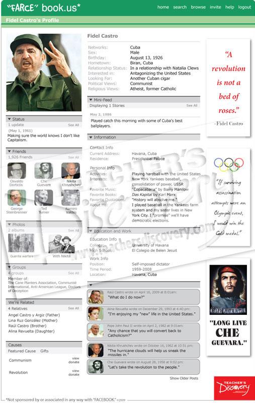 """Fidel Castro """"Farce"""" book Poster"""