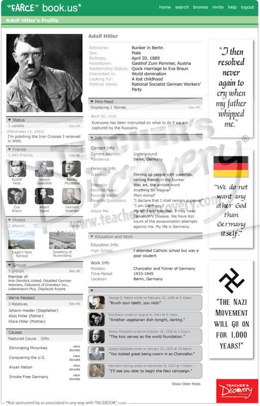 """Adolf Hitler """"Farce"""" book Poster"""