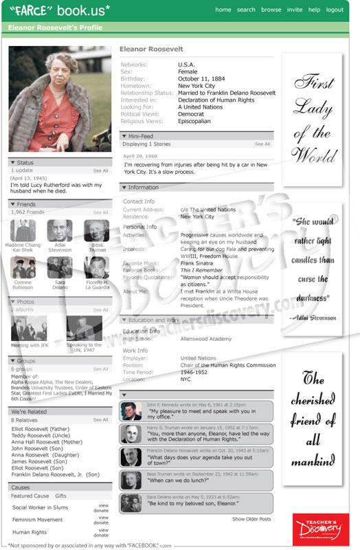 "Eleanor Roosevelt ""Farce"" book Poster"