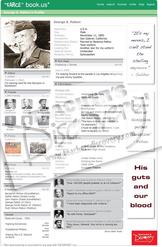 """George S. Patton """"Farce"""" book Poster"""