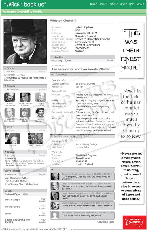 """Winston Churchill """"Farce"""" book Poster"""