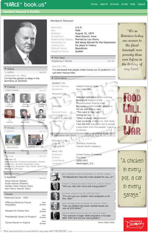"Herbert Hoover ""Farce"" book Poster"