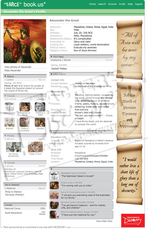 Ancient history farce book posters set of 12 farcebook for Farcical books