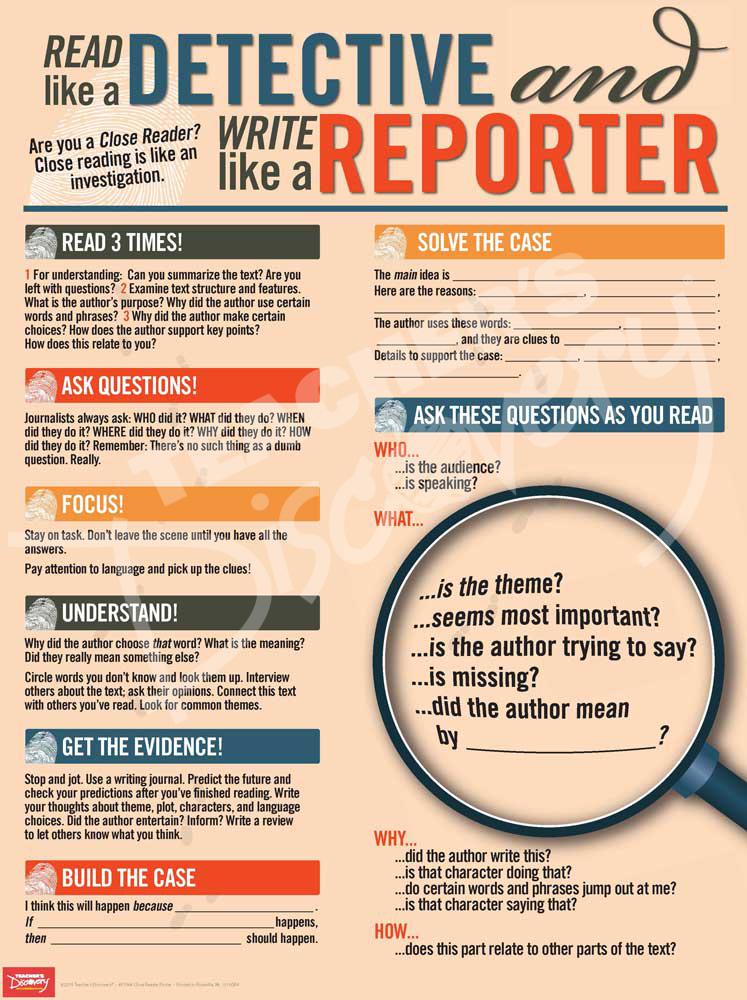 Read Like a Detective, Write Like a Reporter Poster
