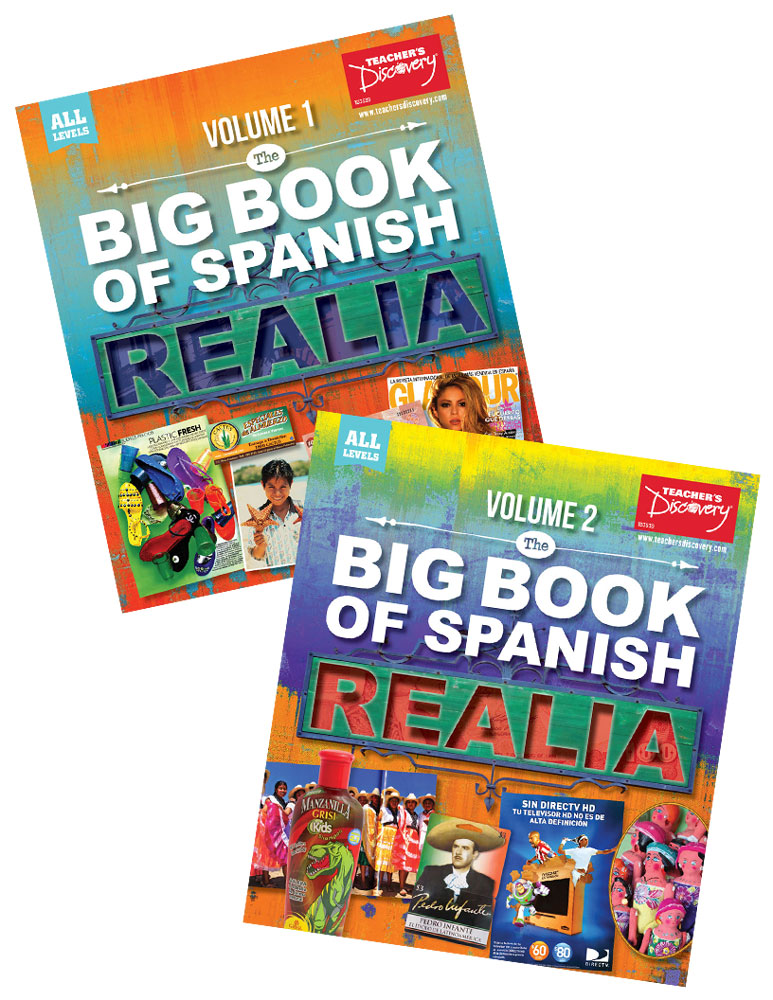 Big Book of Spanish Realia Volume I & Volume II Books