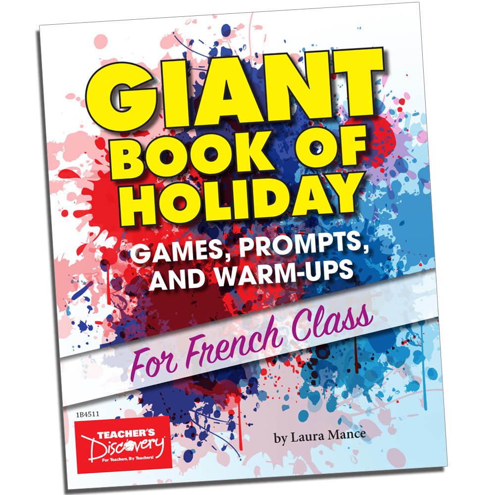 Teachers discovery french giant book of holiday games prompts and warmups for french class fandeluxe
