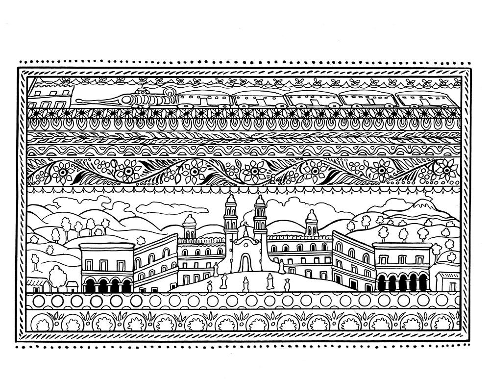 spanish artifacts coloring pages - photo#3