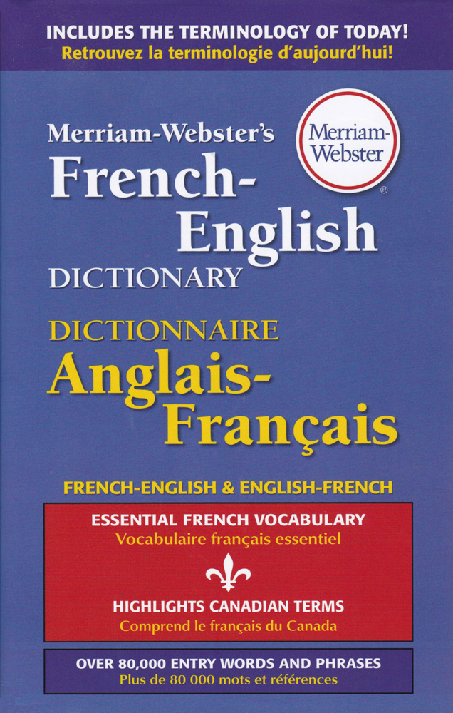 Merriam-Webster's French/English Dictionary Hardcover
