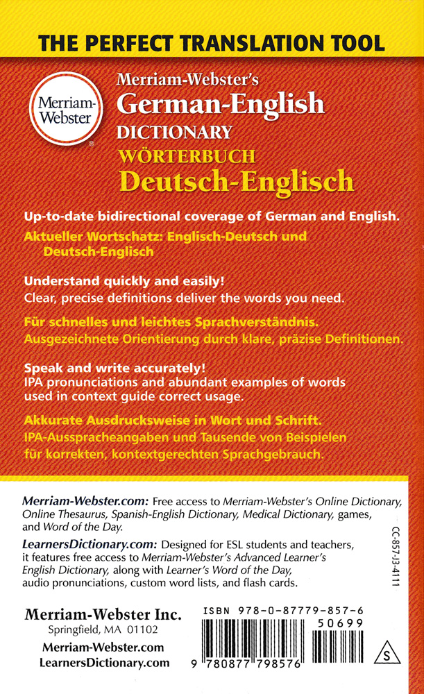 Merriam-Webster German-English Dictionary