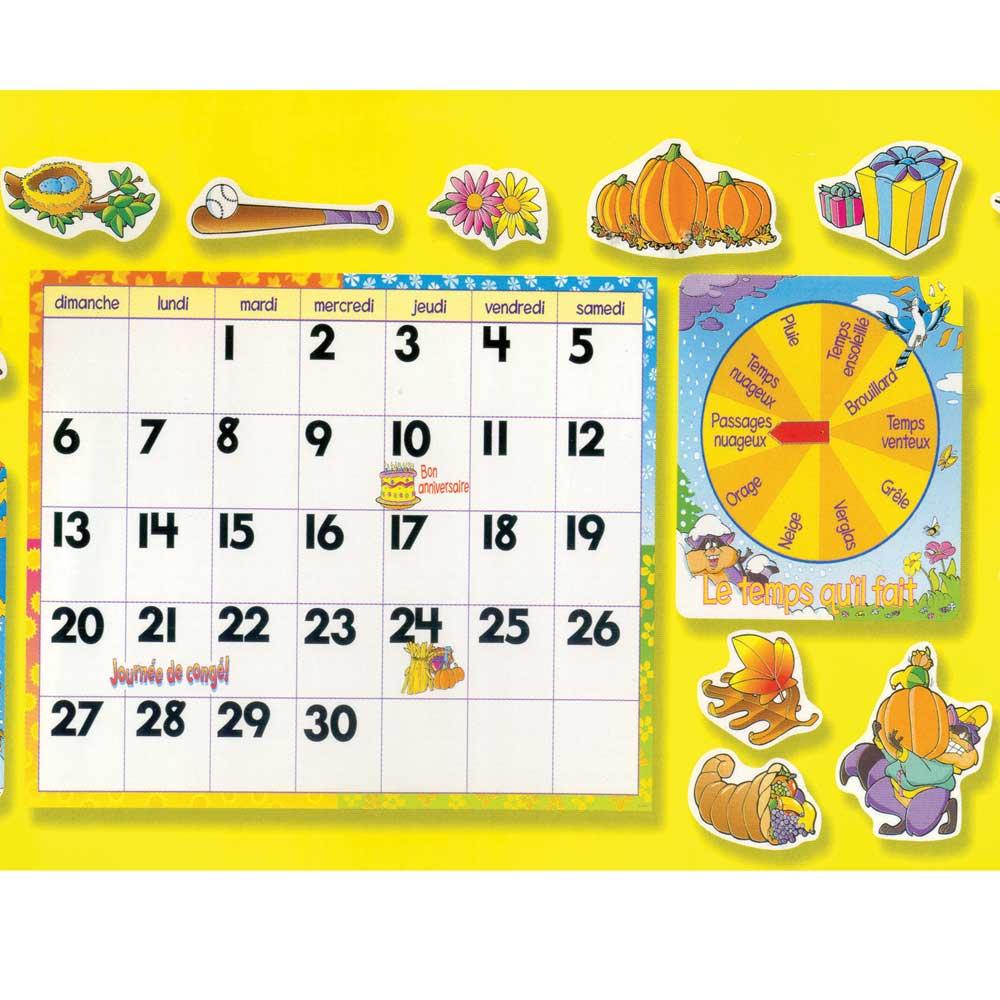 French Bulletin Board Calendar Kit