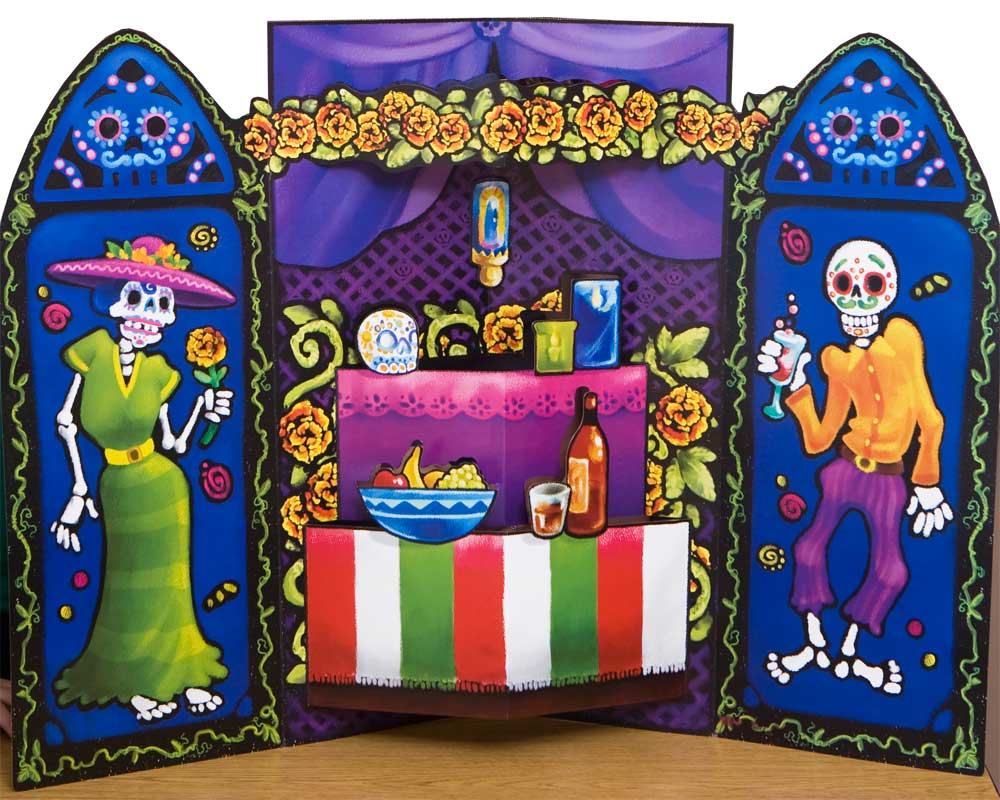 Day of the Dead Altar Prop With Pop-Out Features