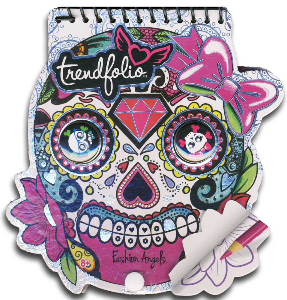 Sugar Skull Trendfolio Sketchbook & Button Set