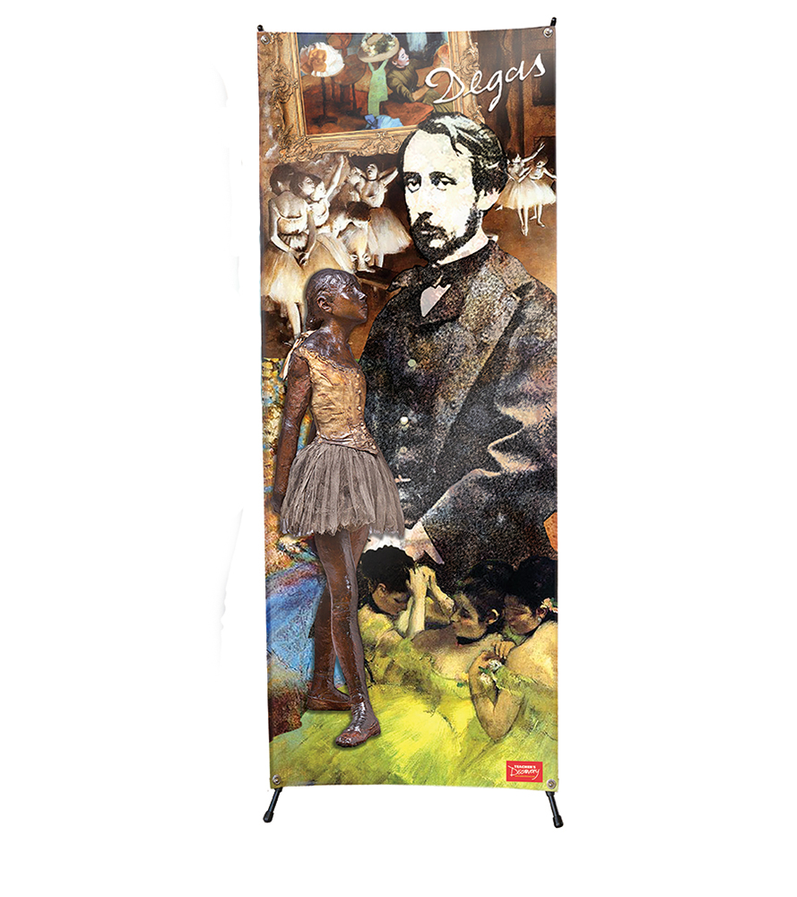 Edgar Degas Stand-Up (Vinyl Banner with X-Stand)