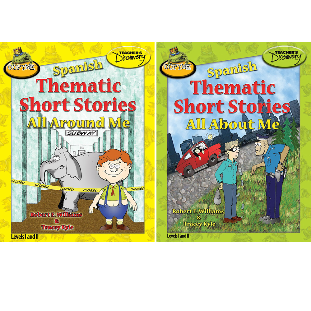 Set of 2 Spanish Thematic Short Stories About Me & Around Me Books