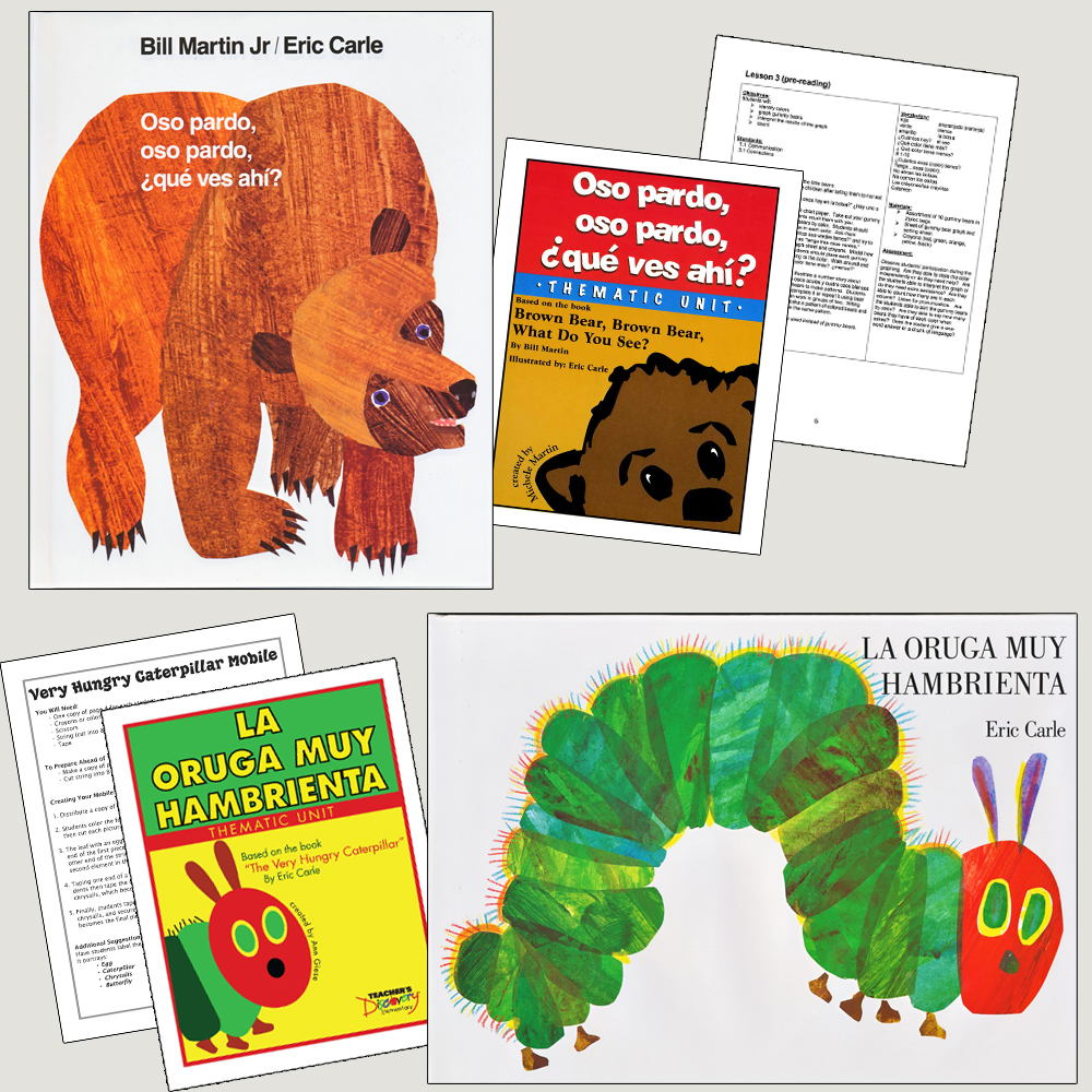 Spanish Elementary Storybook & Thematic Units (Set of 2 books and 2 Units)