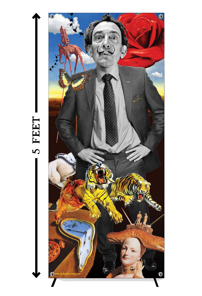Salvador Dali Stand-Up (Vinyl Banner with X-Stand)