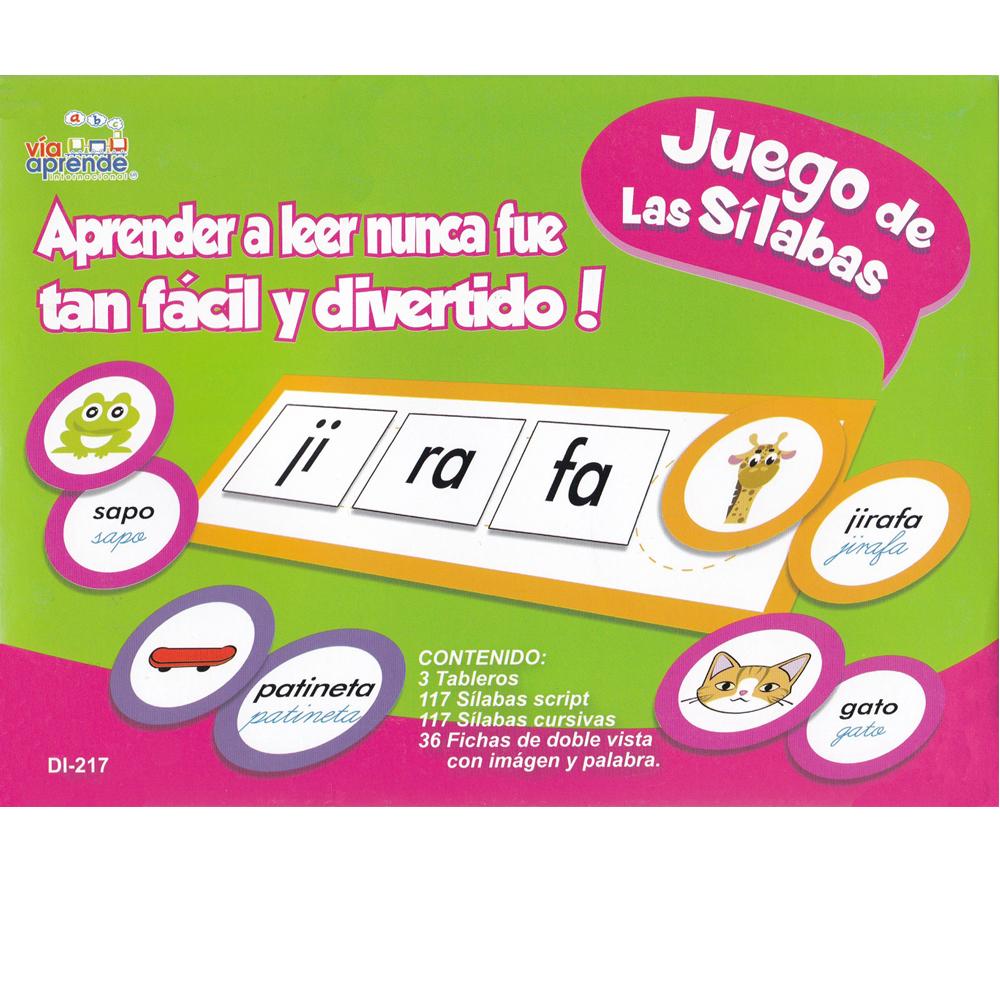 Juego de las silabas Spanish Game