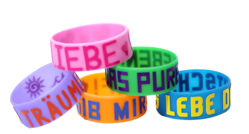 Glow-in-the-Dark German Wristbands Set of 40