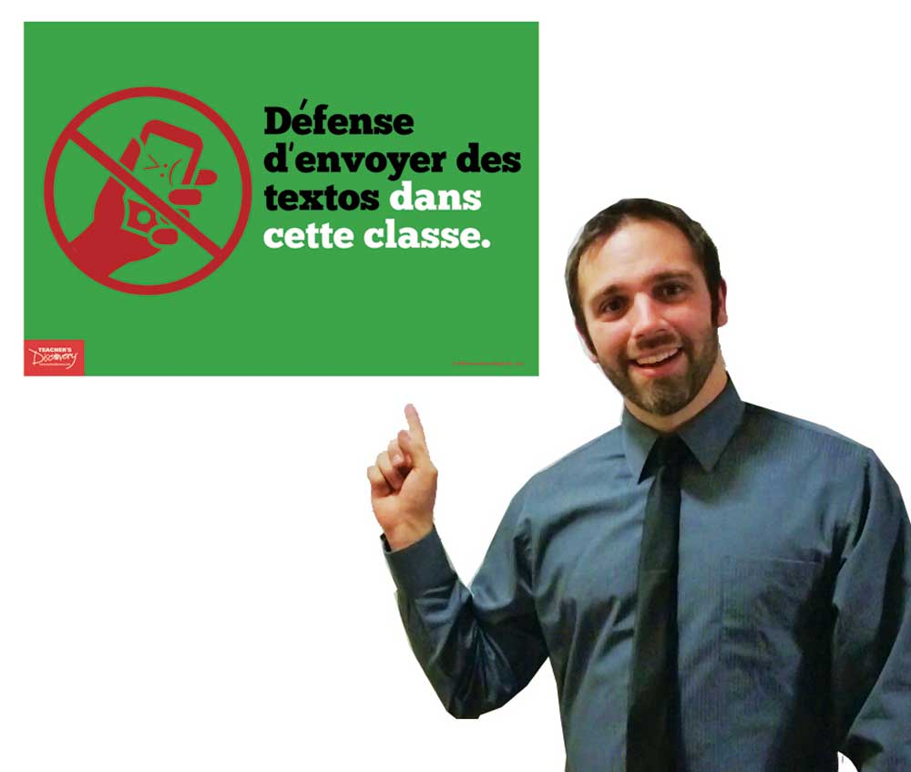 No Texting In This Class French Mini Poster