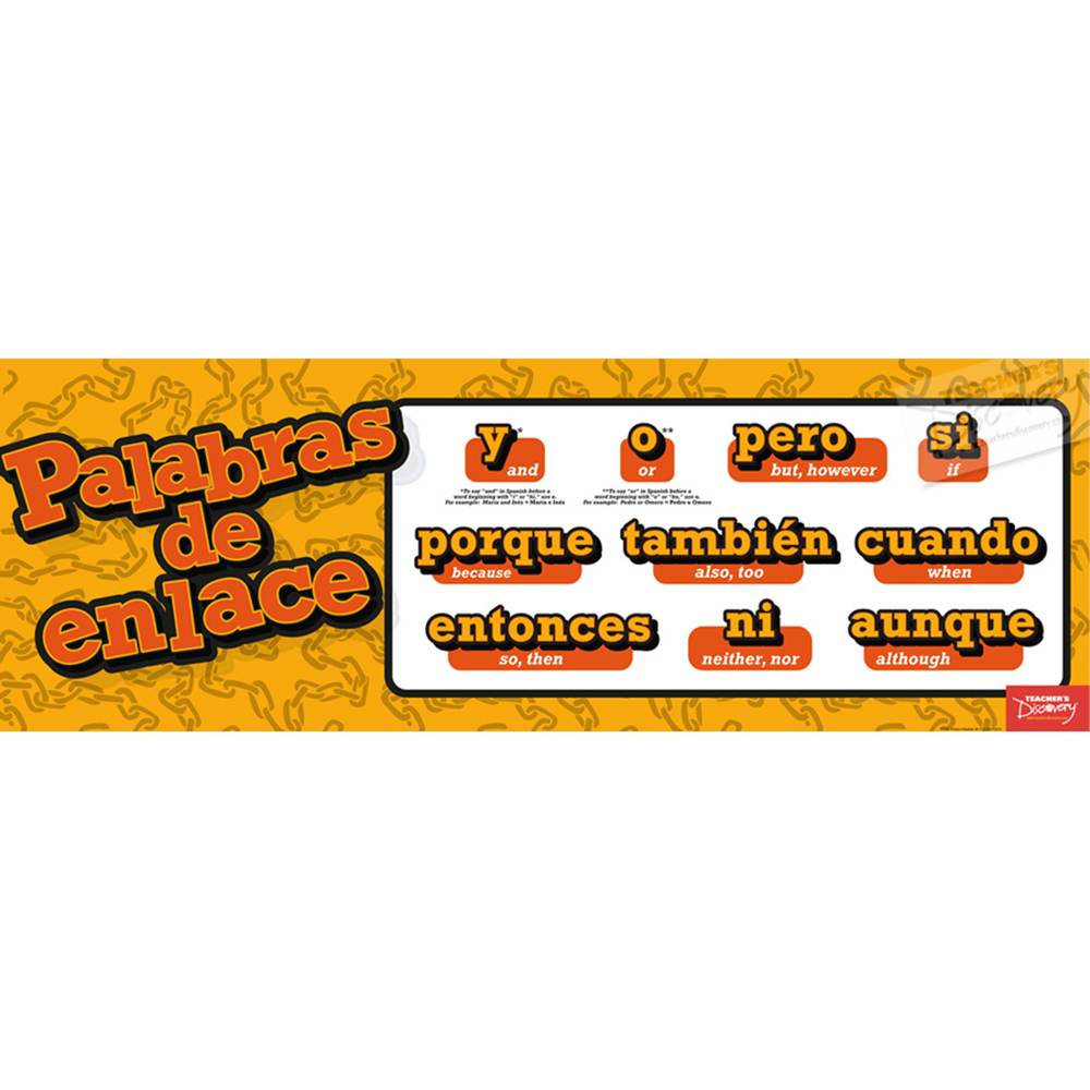 Linking Words Spanish Poster