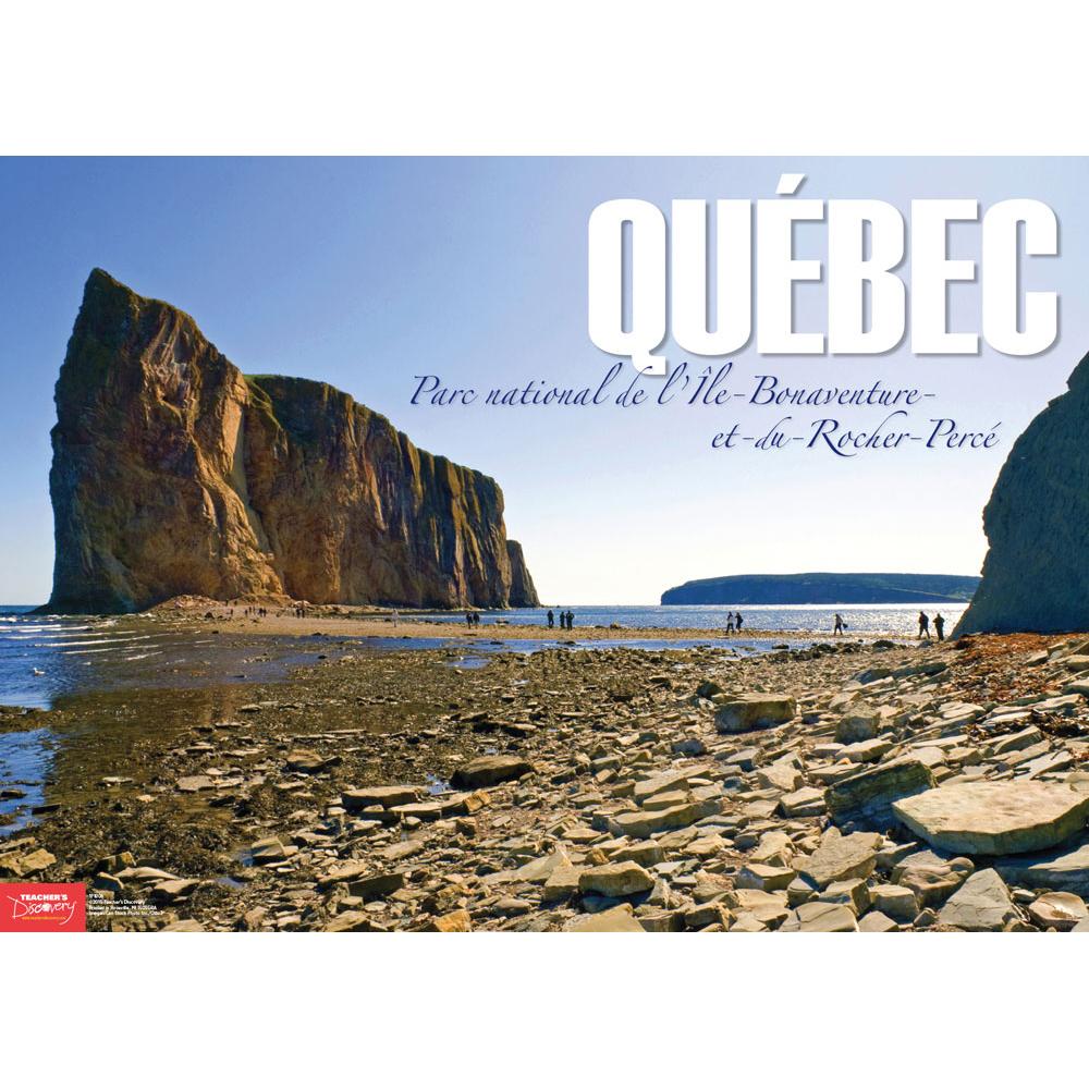 Percé Rock Québec French Travel Poster