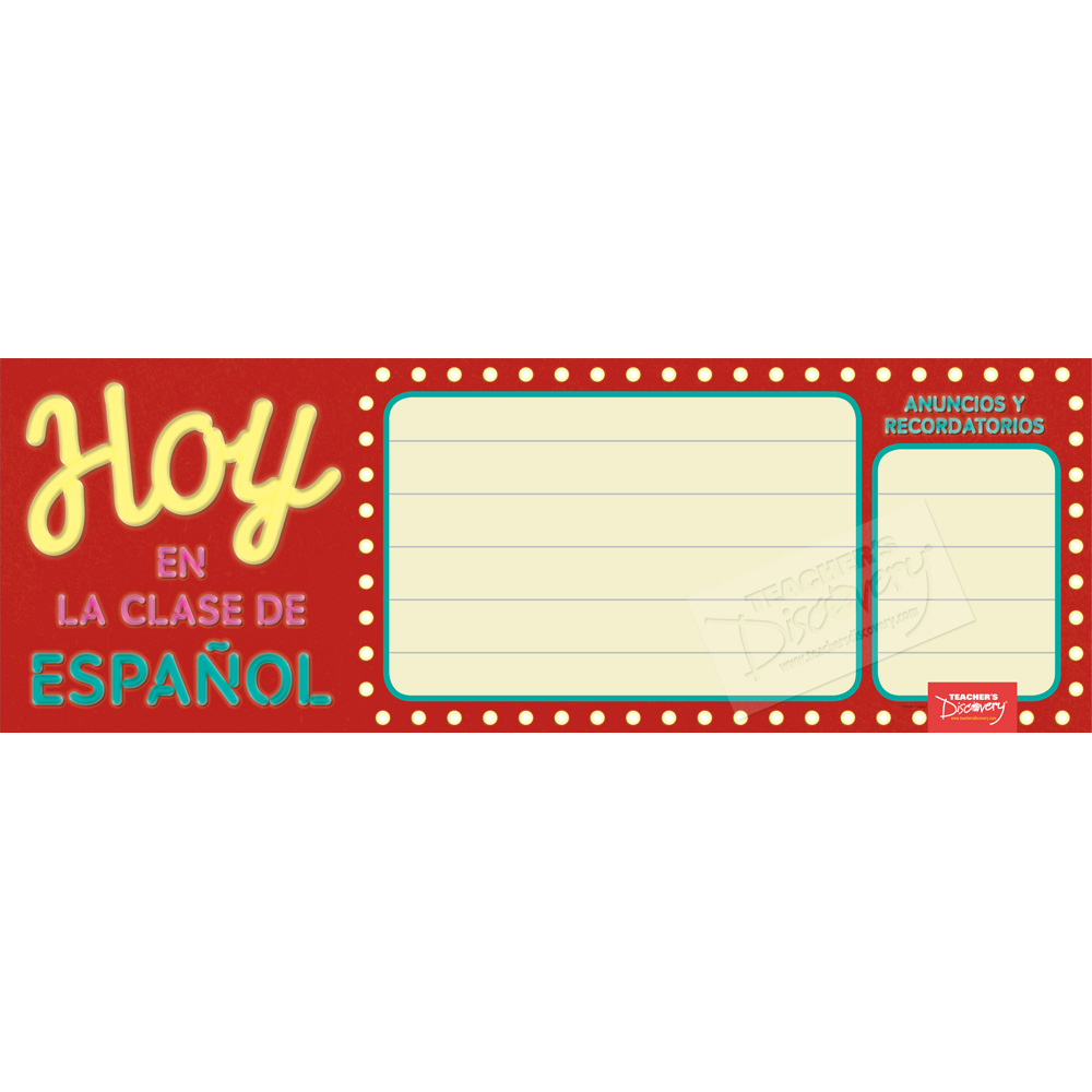 Message Marquee Dry-Erase Spanish Poster