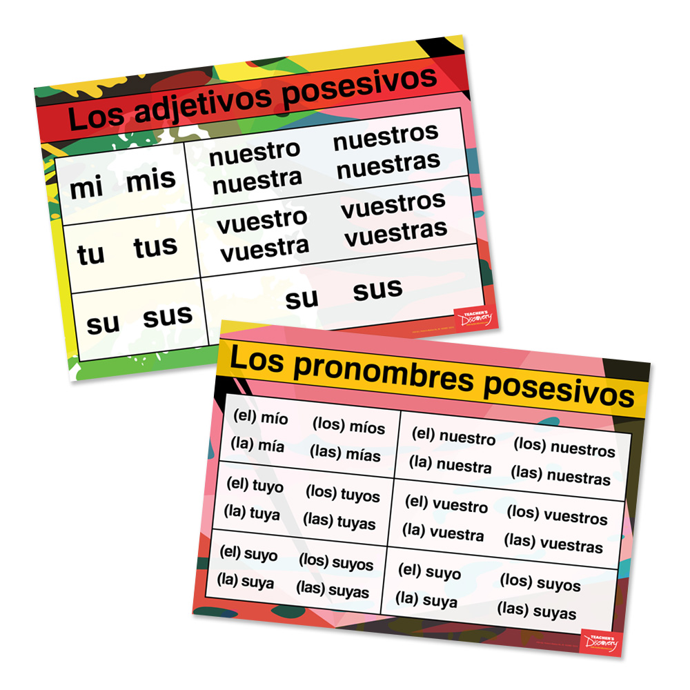 Possessives Spanish Charts (Set of 2)