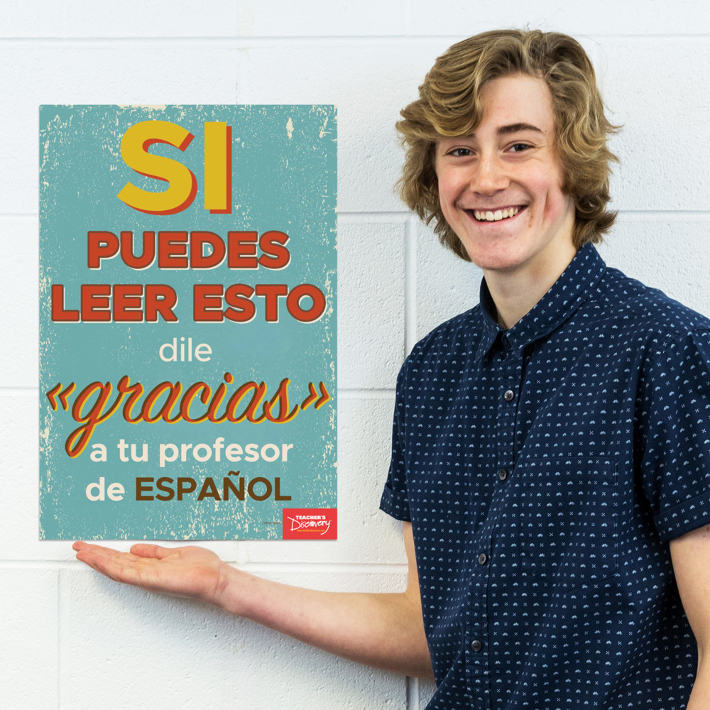 Thank Your Teacher Spanish Mini-Poster